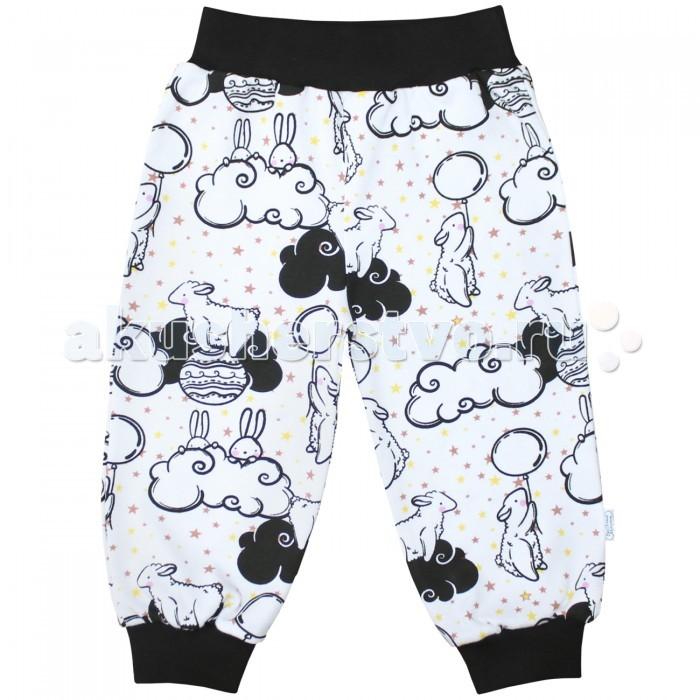 Брюки, джинсы и штанишки Веселый малыш Штанишки для девочки Зайцы в облаках брюки джинсы и штанишки веселый малыш штанишки для девочки розочки синие
