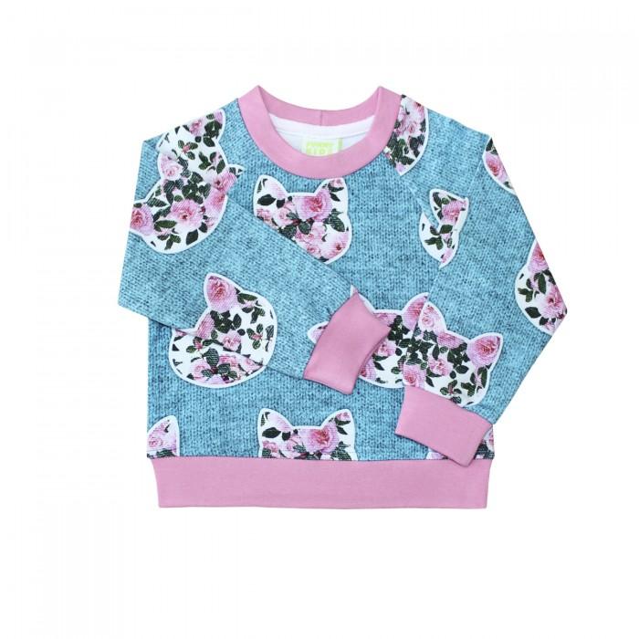 Толстовки, свитшоты, худи Веселый малыш Свитшот для девочки Цветокошки свитшоты incity свитшот