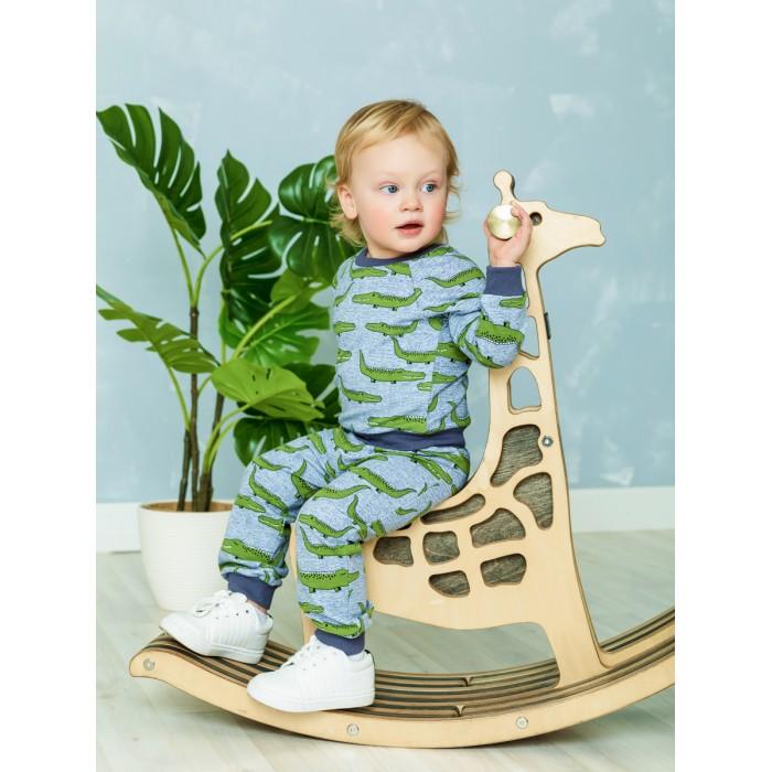 Картинка для Веселый малыш Свитшот с рукавом реглан Крокодил