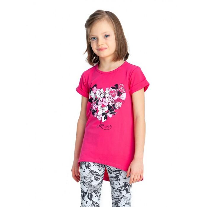 Веселый малыш Туника для девочки с коротким рукавом Бантики от Веселый малыш