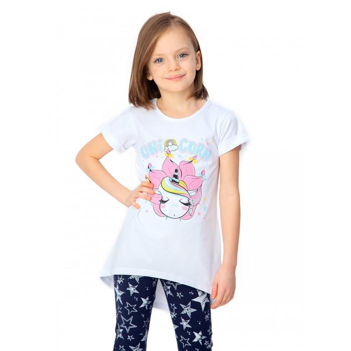Футболки и топы Веселый малыш Туника с коротким рукавом для девочки Красотка
