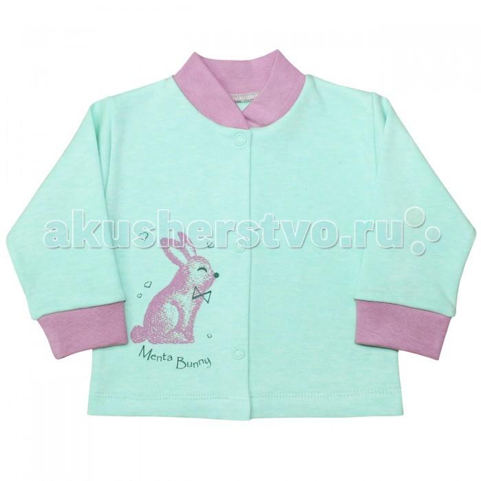 Распашонки и кофточки Веселый малыш Кофточка Мятный зайка 22322 детская одежда