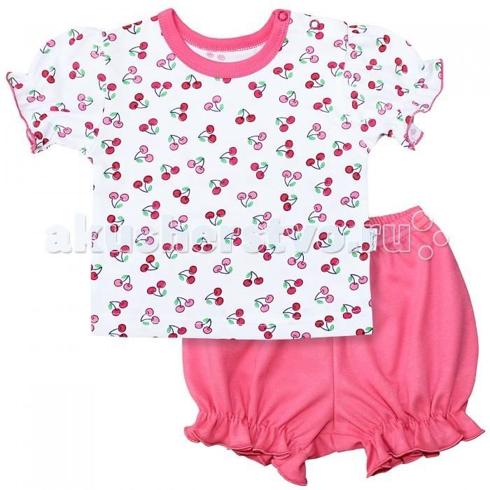 Комплекты детской одежды Веселый малыш Комплект (шорты и футболка) Вишенки 219172 футболки и топы веселый малыш футболка вишенки 69172