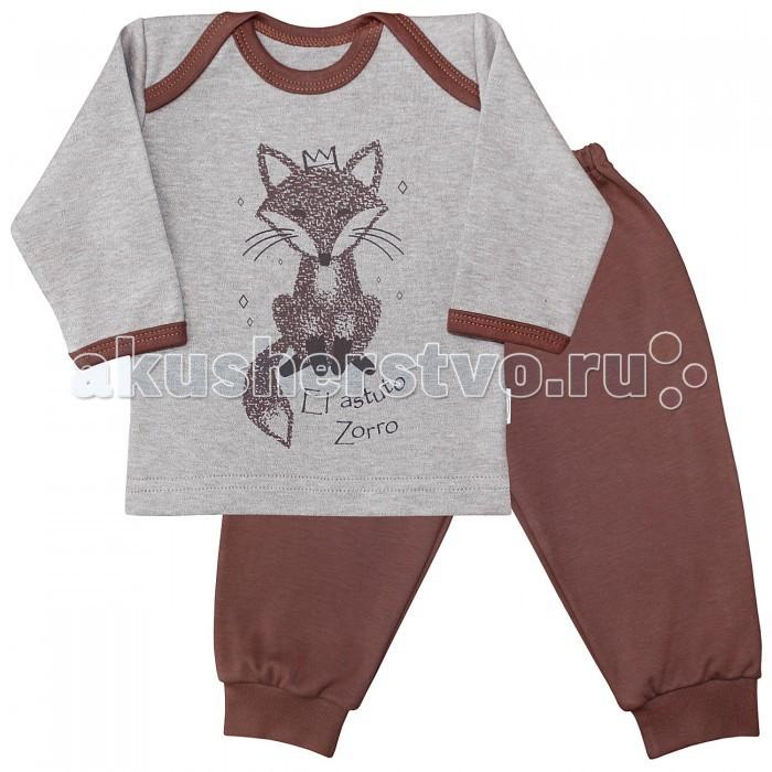 Пижамы и ночные сорочки Веселый малыш Пижама Хитрый лис 623332 распашонки и кофточки веселый малыш кофточка хитрый лис 22322