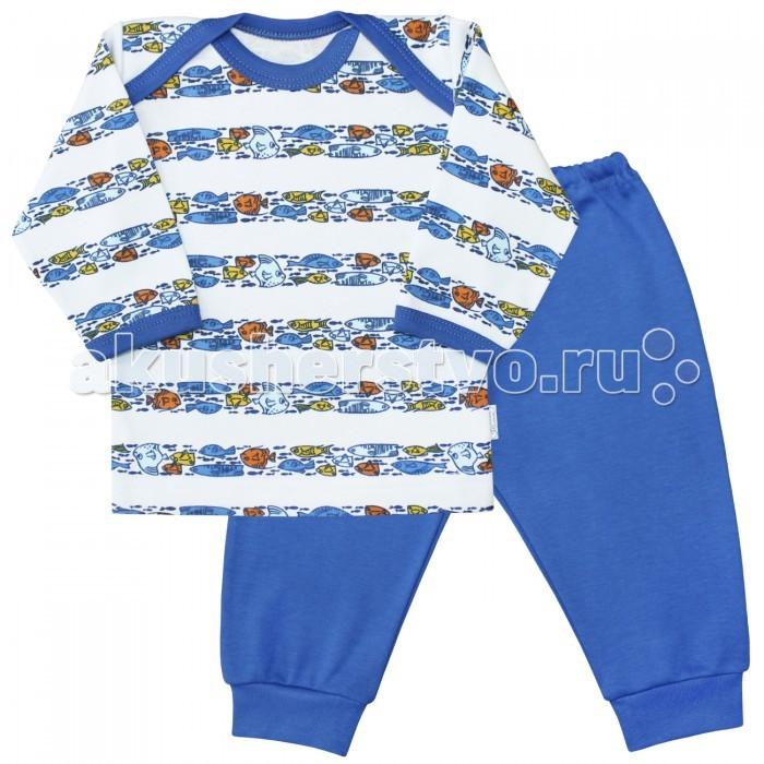 Пижамы и ночные сорочки Веселый малыш Пижама Морская жизнь 623332 пижамы и ночные сорочки веселый малыш пижама мятный зайка 623332