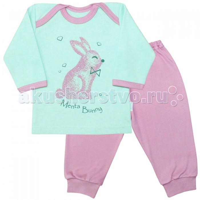 Пижамы и ночные сорочки Веселый малыш Пижама Мятный зайка 623332