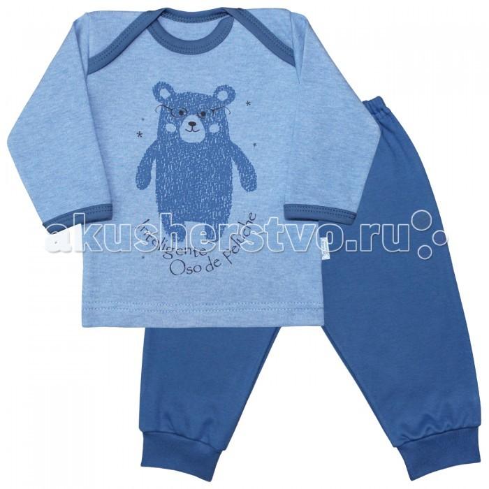 Пижамы и ночные сорочки Веселый малыш Пижама Умный мишка 623332 пижамы и ночные сорочки веселый малыш пижама мятный зайка 623332