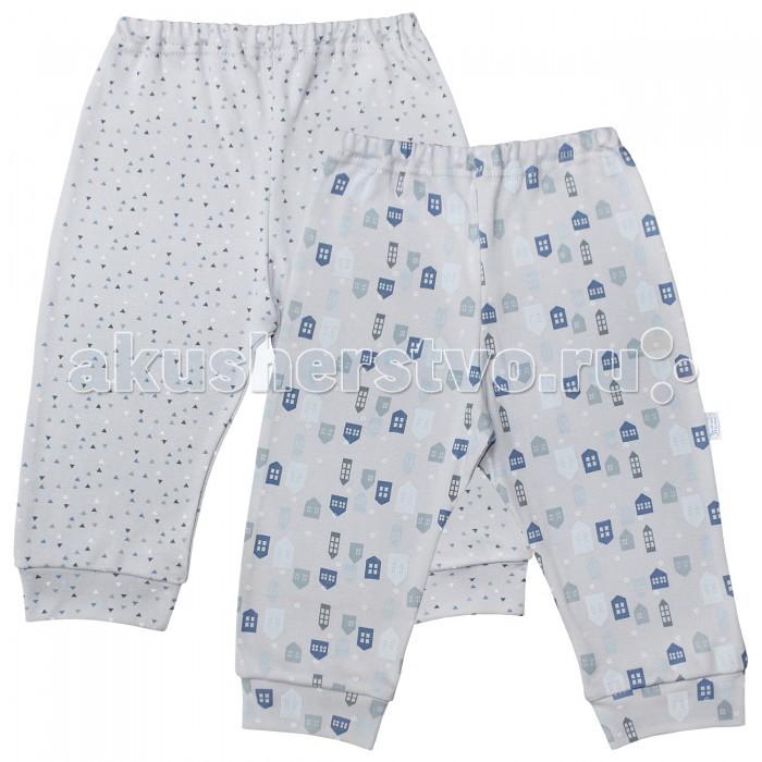 Брюки, джинсы и штанишки Веселый малыш Штанишки Домики 2 шт. 33320 брюки джинсы и штанишки веселый малыш штанишки ежик 33320