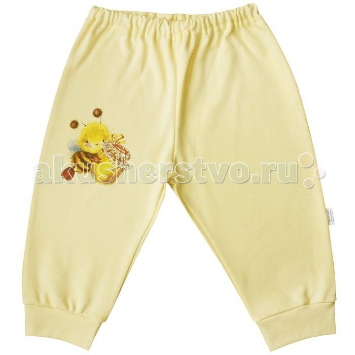 Брюки, джинсы и штанишки Веселый малыш Штанишки Пчелка 33320 детская одежда