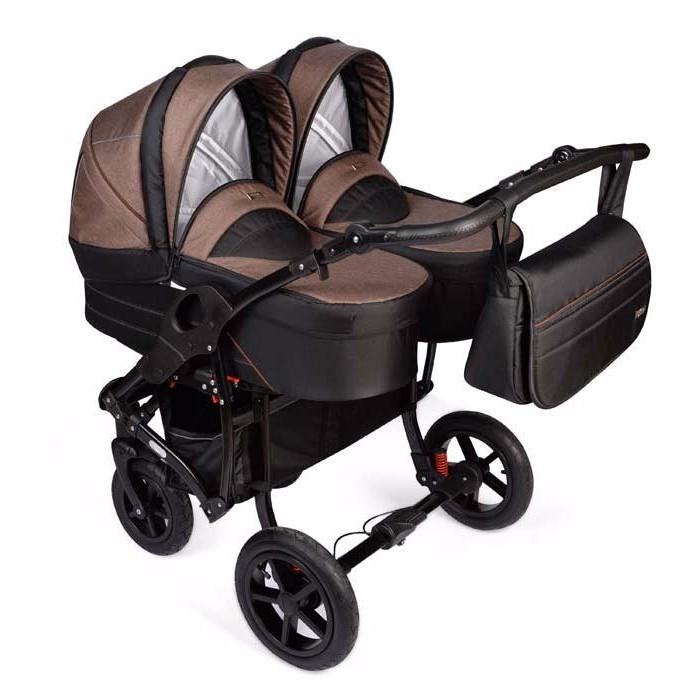 Детские коляски , Коляски для двойни и погодок Vikalex Коляска для двойни Colonella 3 в 1 арт: 435089 -  Коляски для двойни и погодок