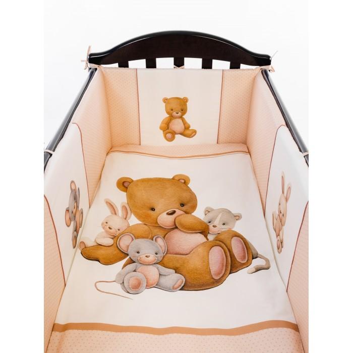 Комплект в кроватку Vikalex Мишкина Компания горох (6 предметов) VI6001/2