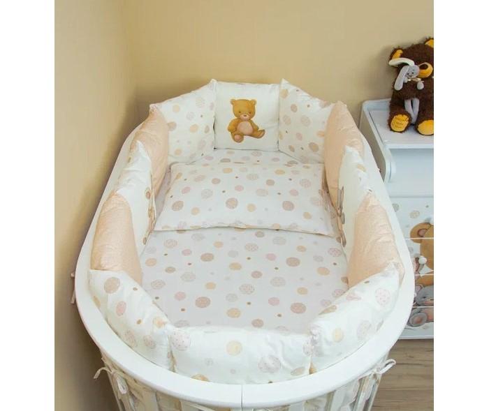 Комплект в кроватку Vikalex Мишкина Компания пузырьки для овальной кроватки (6 предметов) VI6004/2