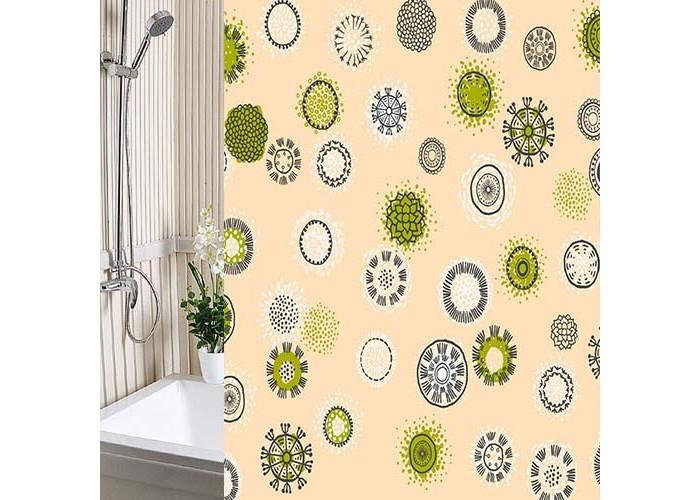 Шторы для ванны Вилина Шторы для ванн полиэстер Одуванчики 180х180 см шторы для кухни gvinerya 130