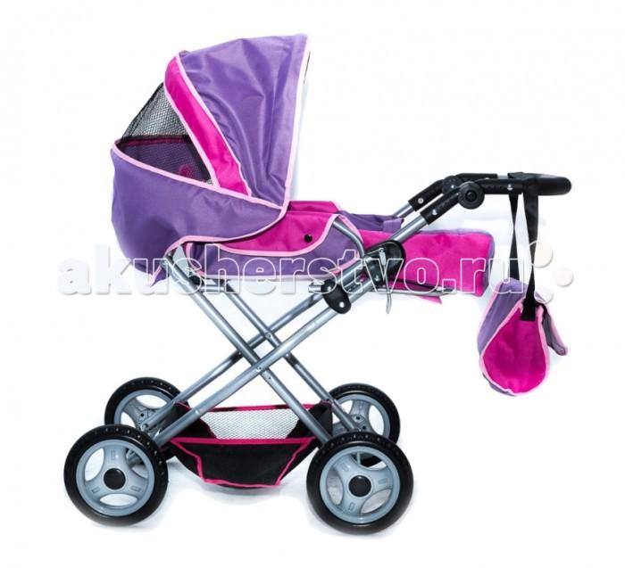Коляска для куклы Vip Toys 755755Складная коляска для кукол  755 с регулируемой по высоте ручкой и складным капюшоном с окошком легко превращается в прогулочную коляску.  В комплекте коляски для кукол 755 люлька-переноска и сумка.  Все колеса прорезинены мягким каучуком.  В нижней части коляски – удобная багажная корзина для игрушек.  В коляске для кукол 755 использованы самые новейшие ткани с пропитками, чтобы коляска не загрязнялась. А современная фурнитура придает коляске солидный вид настоящей «взрослой» детской коляски.<br>