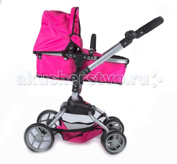 Коляска для куклы Vip Toys 96239623Эта модель, коляска-трансформер, будет заметно выделяться среди других кукольных колясок.   Поворотный блок, с помощью которого Ваша маленькая принцесса быстро повернет свою куклу лицом к себе или лицом к дороге. Ее люлька легко наклоняется под любым углом.   Особенность этой коляски в колесах. Благодаря двойным маленьким колесам, которые крутятся на 360 градусов, обеспечивается плавность хода, устойчивость и проходимость.   Юная мама будет легко и просто управлять этой коляской на дороге. Колеса, прорезиненные сверху, что дает бесшумность и мягкость хода. Ваша маленькая принцесса сможет переносить люльку вместе с куклой, как многие мамы делают это со своими маленькими детьми.   Другая особенность - регулируемая ручка. Нажимая на кнопки по бокам ручки, Вы можете регулировать высоту ручки. Коляска имеет большой складной капюшон, а в нижней части коляски имеется сетка для перевозки вещей.   Размер люльки 53х27х15 см. От пола до люльки 50 см.   Даже самая большая кукла поместится в этой коляске. Ручка из мягкого материала полипропилена.   Максимальная высота от пола до ручки 68-82 см. Высота до капюшона 81 см.<br>