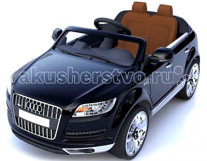 """Электромобиль Vip Toys Audi HLQ7Audi HLQ7Детский двухместный электромобиль AUDI Q7 – одна из самых популярных моделей среди автолюбителей по лицензии известного автоконцерна выполнен по стилю внедорожника AUDI Q7 Quattro. Двухскоростной джип с пультом радиоуправления для двоих детей. Мягкие колеса и чехол на сиденье из перфорированной эко кожи отличает эту модель от других. Большие размеры автомобиля и два посадочных места позволят Вашему ребенку приглашать в поездку своих друзей. Благодаря встроенному FM- радио с авто-настройкой, MP3, с любимой музыкой Вам не придется скучать в дороге, и катание превратится в веселую вечеринку. Ремни безопасности сделают это катание максимально безопасным. Электромобиль оборудован амортизаторами на колесах, что позволить плавно преодолевать любые неровности дорог. Едет вперед- назад, 2 скорости. Мощный, стильный детский электромобиль AUDI Q7 рассчитан на 2 пассажиров и выдерживает вес до 35 кг.  Оборудовано кнопкой «Низкая скорость»/ «Высокая скорость», которая используется для изменения скорости движения транспортного средства на 3 км / ч и 7 км / ч. Этот автомобиль оснащен разъемом для """"USB"""", а также слот для вставки """"SD"""" карту. Обе функции позволяют добавлять свою собственную музыку прямо в машине. AUDI Q7 также имеет радиостанцию """"FM"""".   Характеристики: 2 мотора по 45W каждый, задний привод Аккумулятор 12Vх 7АH 2 часа работы без подзарядки Разгоняется до 9 км/ч Зарядное устройство 12V 1000 mA, заряжает за 8-10 часов 2 режима управления электромобилем: взрослый управляет с помощью дистанционного пульта. И управление ребенком. 2 посадочных места Колёса – материал EVA Высокий клиренс и мощные широкие колеса 4 амортизатора кнопки включения, выключения. На руле – сигнал и переключатель мелодий Дополнительные функции: USD слот для карты памяти и карта памяти Радио - FM приемник, MP3 Пульт управления Bluetooth 2.4G Индикатор заряда батареи, позволит более точно спрогнозировать время прогулки. Звуковые эффекты: встроенные песни, звук м"""