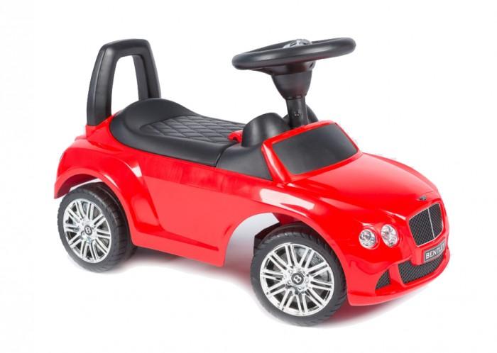 Каталка Vip Toys Bentley 326Bentley 326Яркая качественная каталка сделана в стиле авто с музыкальным рулем. Удобный широкий спойлер-спинка. Вращаемый руль регулирует направление движения машинки поворотом передних колес. Удобное эргономичное сидение.   Под сидением вместительный багажник для любимых игрушек, которые можно взять с собой на прогулку. Стиль и дизайн гоночной техники придаст игре реальности и добавит незабываемых впечатлений от игры и езды! Максимальная нагрузка- 23 кг. Рекомендуется для детей от 12 месяцев.  Варианты использования: Ходунки. Для самых маленьких, которые только учатся ходить, машинка - незаменимое средство-помощник. Ребенок учится ходить и толкает машинку перед собой, опираясь на спинку каталки. Эта же спинка является опорой, если ребенок сидит на каталке. Каталка. Когда малыш подрастет, он садится на машину и едет самостоятельно, отталкиваясь ножками.  Машинка отлично подойдет для игр дома и на улице. Теперь катание малыша станет неповторимым увлекательным путешествием!  Размер машинки(дхшхв):  67.5х30х30.5 см  Вес: 2.93 кг<br>
