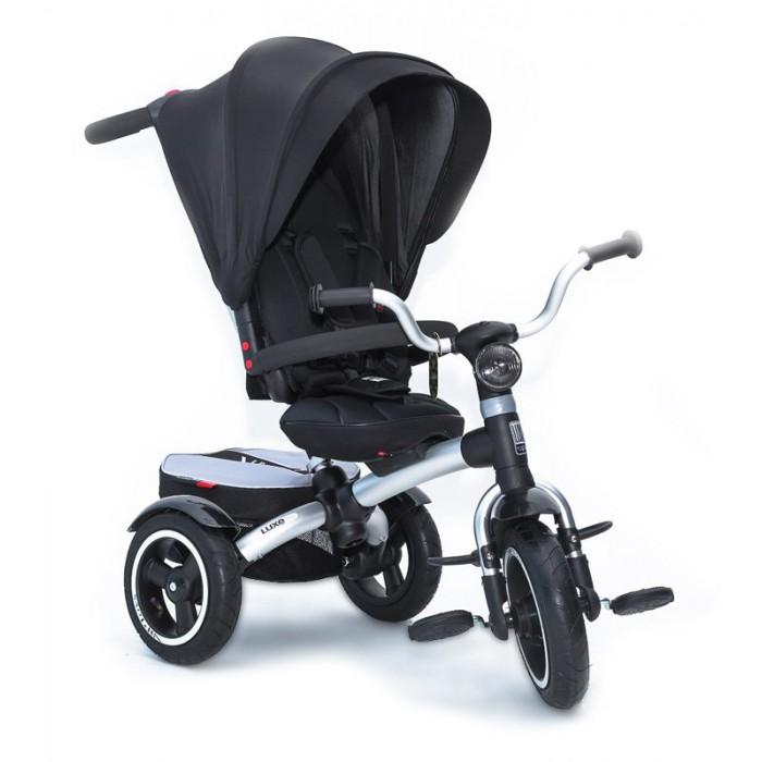 Велосипед трехколесный Vip Toys LuxeLuxeVip Toys Luxe станет замечательным подарком как для мамы, так и для малыша. Легкая и прочная рама гарантируем простоту управления, а регулируемая спинка позволит использовать модель в качестве коляски для малыша от 8-ми месяцев. Большой и глубокий капюшон с защитой от УФ станет незаменим в теплое время года, а комфортное сиденье позволит ребенку наслаждаться прогулкой и не испытывать дискомфорта.   Не забыла команда Vip Toys и о безопасности - 5-ти точечные ремни с мягкими накладками, прочный бампер и тормоза на задних колесах станут залогом безопасной прогулки.  Характеристики: можно использовать для детей от 8 месяцев с легкостью заменит летнюю прогулочную коляску сиденье регулируется вперед-назад в 5-ти положениях алюминиевая легкая рама телескопическая родительская ручка подножки-крылья для переднем колесе надувные колеса большое сиденье съемный капюшон с УФ-защитой регулируемая до положения «полулежа» спинка 5-ти точечные ремни с мягкими накладками регулируются по высоте 2 ножных тормоза на задние колеса функция - «свободное колесо» складные подножки на переднем колесе прочный бампер съемный чехол сиденья LED фара  Размеры велосипеда (дхшхв):                     93х57х105 см Размеры сиденья (шхгхв):  30х20х45 см Высота родительской ручки:  83-110 см Диаметр колес (передние/задние):  28/25 см<br>