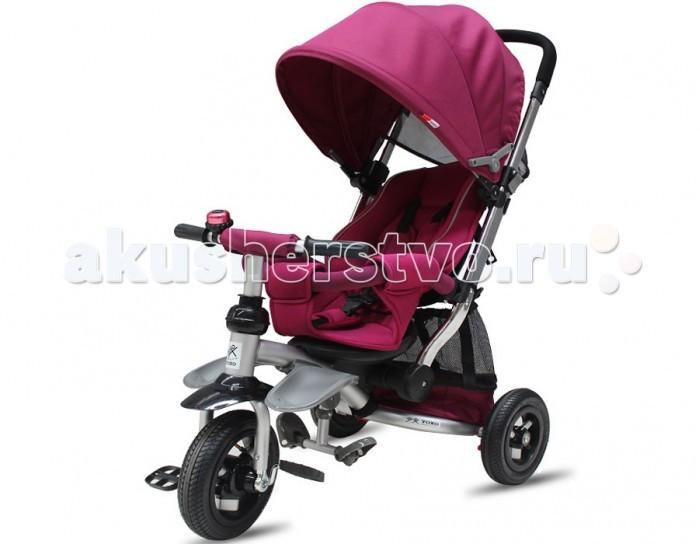Велосипед трехколесный Vip Toys T-350T-350Этот велосипед исключительно понравиться вашему малышу! Прочный и надежный, на на широких колесах велосипед Vip Toys T-350 станет прекрасным подарком для любого малыша. Оснащенный удобной родительской ручкой, велосипед станет отличным средством передвижения, ведь он имеет легкий козырек от солнца и вместительную корзину для игрушек.   Широкие педали и руль эргономичной формы позволят ребенку самостоятельно и без проблем управлять движением, а если маленькие ножки устанут, мама всегда сможет катить велосипед как коляску. Прочная и надежная рама, комфортное сиденье и 3-х точечные ремни сделают прогулку легкой и приятной.  Характеристики: алюминиевая рама ручка управления как у коляски, с регулировкой высоты надувные резиновые колеса (передние 10 дюймов/задние 8 дюймов) комфортное сиденье с высокой спинкой, дополненное мягким чехлом с ремнями безопасности мягкие защитные бортики регулировка кресла по направлению движения и по наклону спинки стильный складывающийся капюшон из ткани с тефлоновой пропиткой ножной тормоза для задних колес специальная подставка для ног для маленьких деток, которая закреплена на раме складывающаяся подставка для ног более взрослых детей функция свободный руль багажная корзина функция свободное колесо максимальная нагрузка - 30 кг  Размеры (дхшхв):  85.5х52х100 см Вес:  11 кг<br>