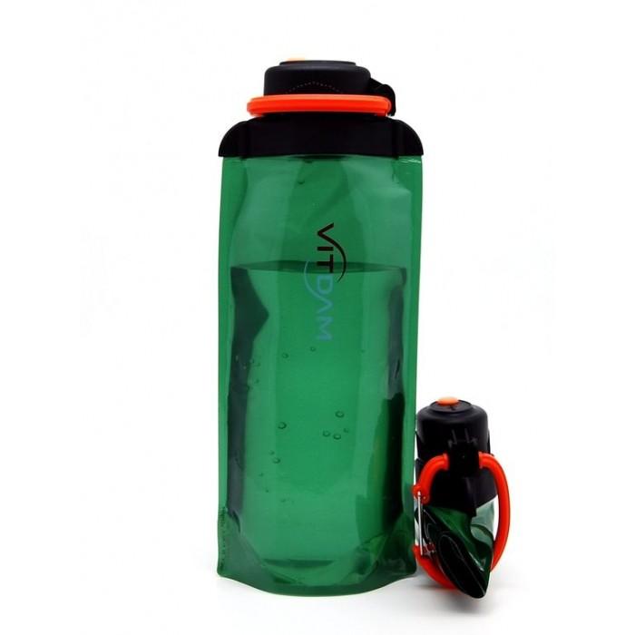 Поильники Vitdam Складная эко бутылка с карабином 700 мл эко бутылка eau good с фильтром оливковая