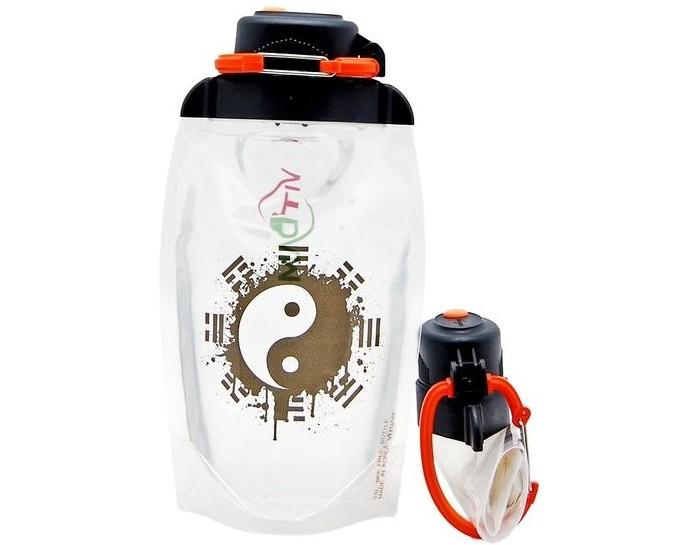 Vitdam Складная эко бутылка с карабином Зодиак Рак 860 мл