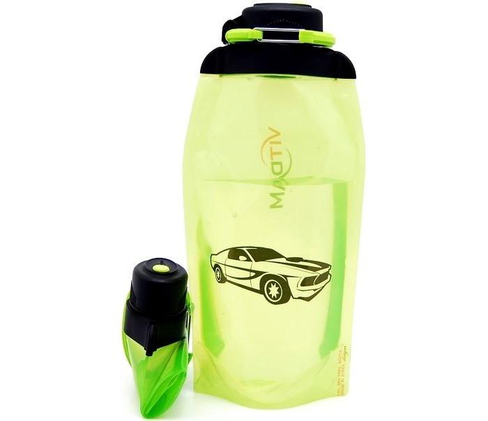 Vitdam Складная эко бутылка с карабином Зодиак Скорпион 500 мл