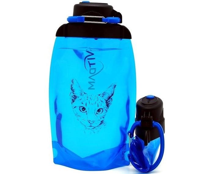 Vitdam Складная эко бутылка с карабином Зайка 860 мл