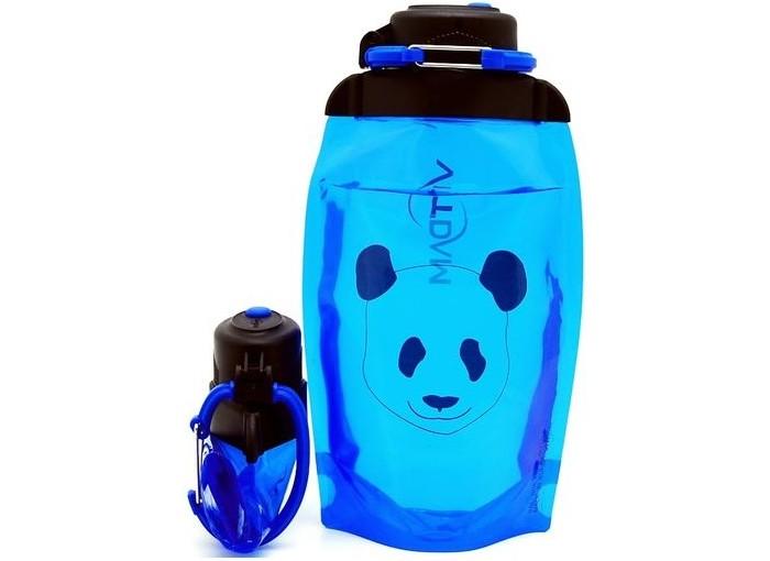 Vitdam Складная эко бутылка с карабином Коктейли 500 мл