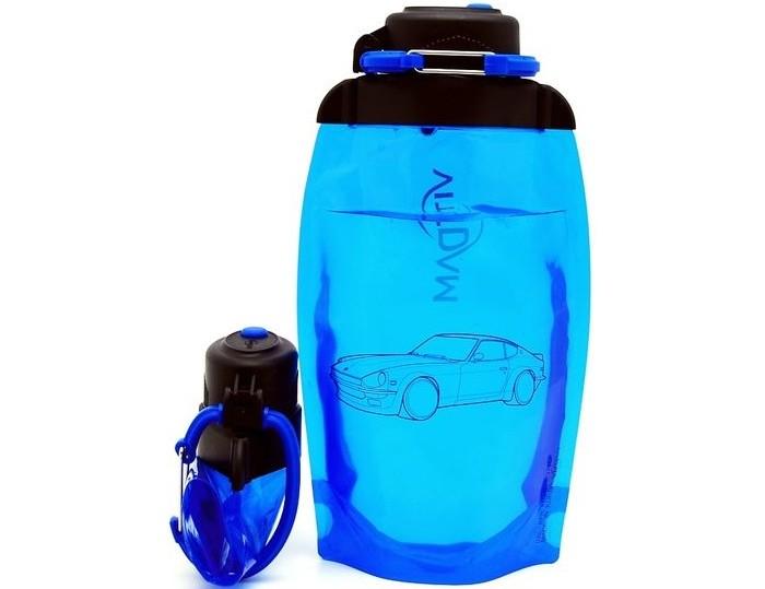 Vitdam Складная эко бутылка с карабином Зайка 500 мл