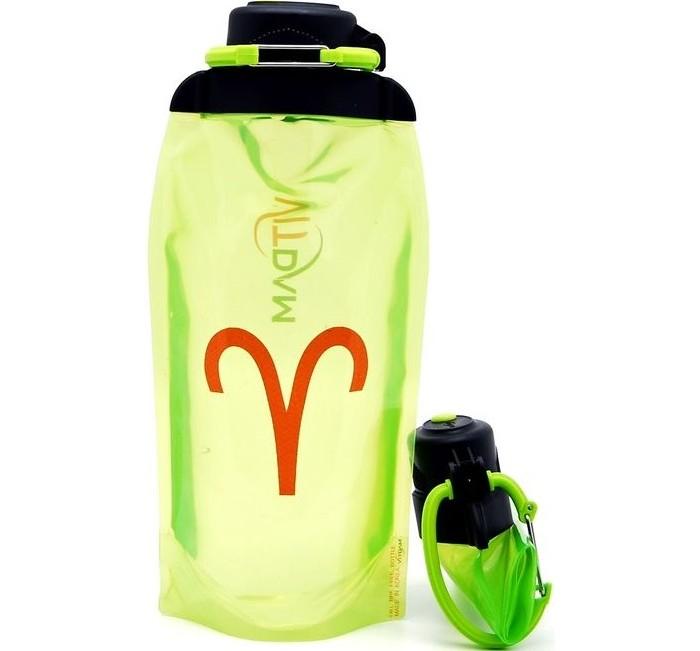 Vitdam Складная эко бутылка с карабином Зодиак Овен 860 мл
