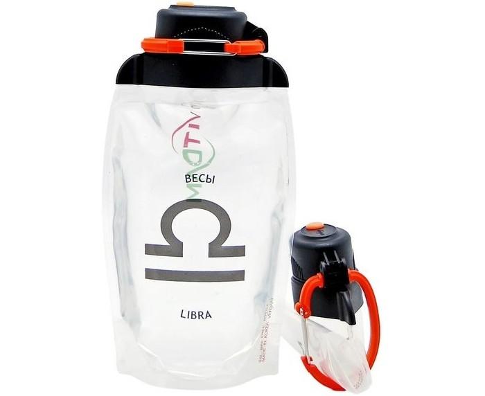 Картинка для Vitdam Складная эко бутылка с карабином Зодиак Весы 500 мл