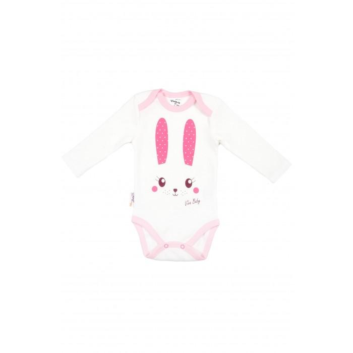 Боди и песочники Viva Baby Боди Sweet Bunny боди детское hudson baby hudson baby боди цыплёнок 3 шт бирюзово розовый