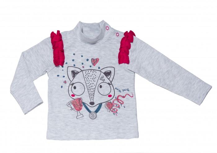 Водолазки и лонгсливы Viva Baby Кофта для девочки длинный рукав D6502-1