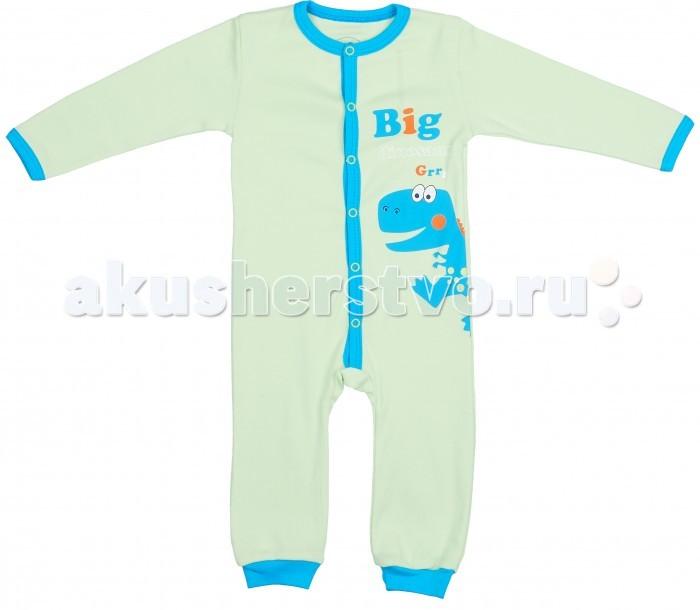 Комбинезоны и полукомбинезоны Viva Baby Комбинезон для мальчика Super dino M1213 комплекты детской одежды viva baby комплект для мальчика кофточка брюки super dino m1202 2