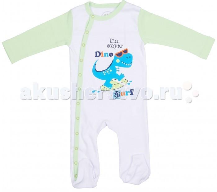 Комбинезоны и полукомбинезоны Viva Baby Комбинезон для мальчика Super dino комплекты детской одежды viva baby комплект для мальчика кофточка брюки super dino m1202 2