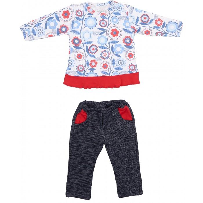 Комплекты детской одежды Viva Baby Комплект для девочки (кофточка+брюки) Magic fish and Cat D1308-1 комплект кофточка и брюки tommy hilfiger комплект кофточка и брюки page 10