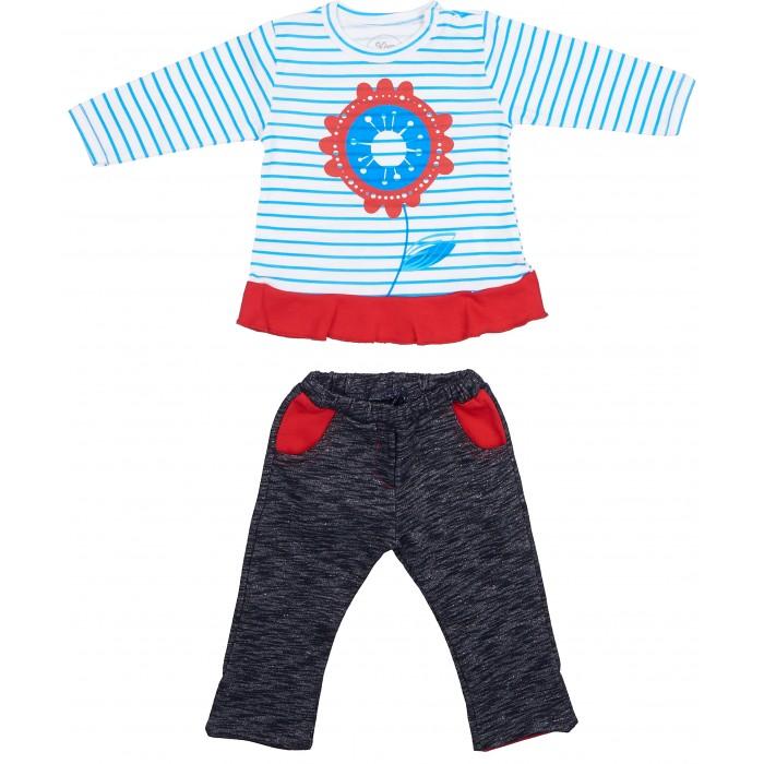 Комплекты детской одежды Viva Baby Комплект для девочки (кофточка+брюки) Magic fish and Cat комплект кофточка и брюки tommy hilfiger комплект кофточка и брюки page 10