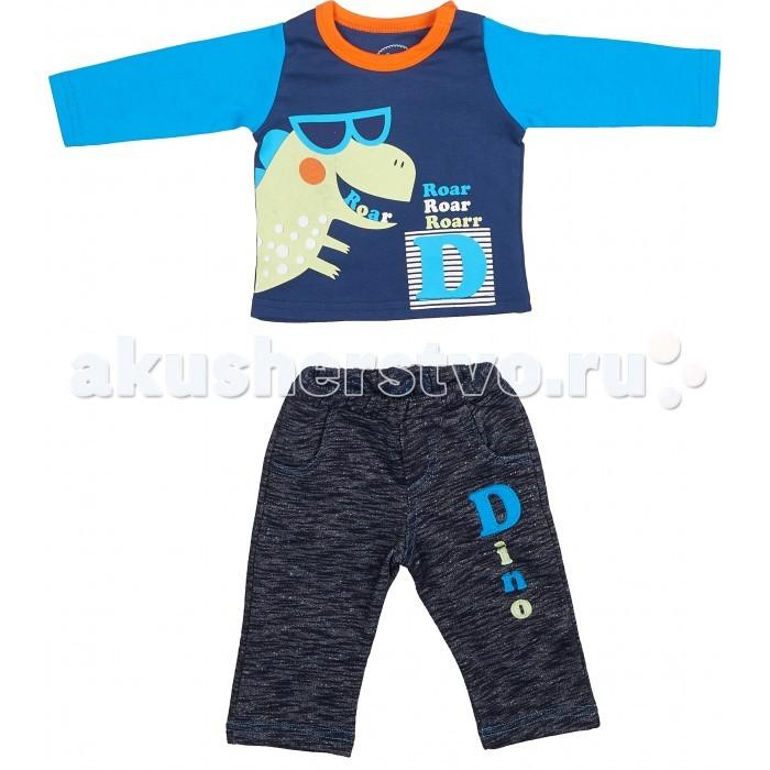 Комплекты детской одежды Viva Baby Комплект для мальчика (кофточка+брюки) Super dino M1202-2 комплект кофточка и брюки tommy hilfiger комплект кофточка и брюки page 7