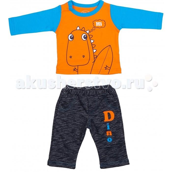 Комплекты детской одежды Viva Baby Комплект для мальчика (кофточка+брюки) Super dino M1202-4 комплект кофточка и брюки tommy hilfiger комплект кофточка и брюки page 7