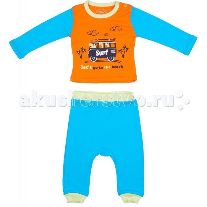 Комплекты детской одежды Viva Baby Комплект для мальчика (кофточка+брюки) Super dino комплекты детской одежды viva baby комплект для мальчика кофточка брюки super dino m1202 2