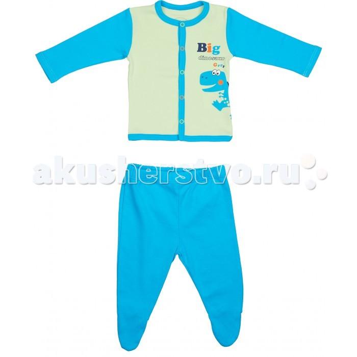 Комплекты детской одежды Viva Baby Комплект для мальчика (распашонка+ползунки) Super dino