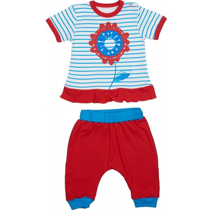 Комплекты детской одежды Viva Baby Комплект из кофточки и штанишек Magic fisc and Cat D1308 комплекты детской одежды viva baby комплект для девочки кофточка брюки magic fish and cat d1308 1
