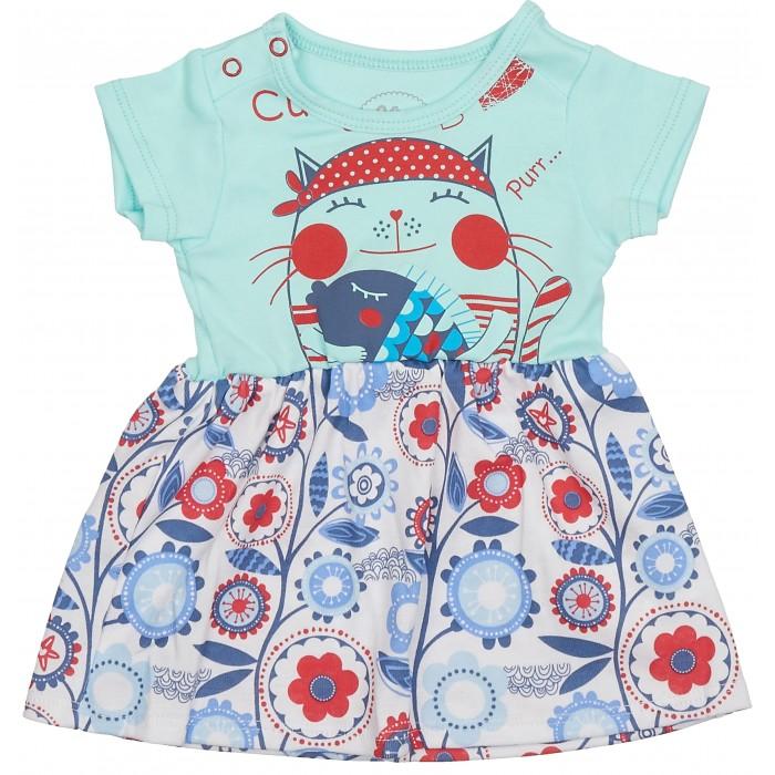 Детские платья и сарафаны Viva Baby Платье Magic fisc and Cat D1302-1 комплекты детской одежды viva baby комплект для девочки кофточка брюки magic fish and cat d1308 1
