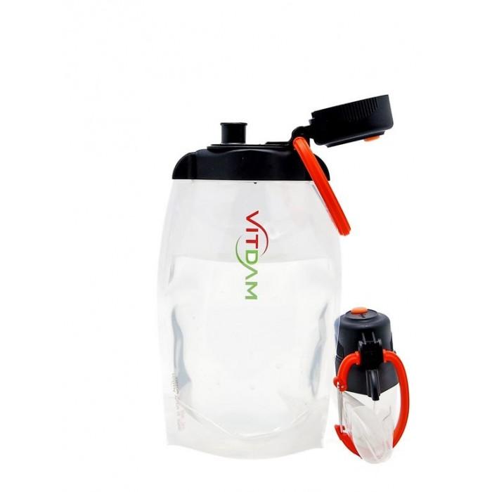 Поильники Vitdam Складная эко бутылка с карабином 500 мл эко бутылка eau good с фильтром оливковая