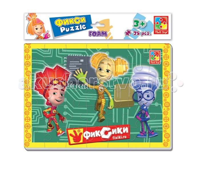 Пазлы Vladi toys Мягкие пазлы А4 Фиксики 35 элементов vladi toys мягкие пазлы смешарики vladi toys
