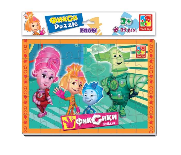 Пазлы Vladi toys Мягкие пазлы А4 Фиксики 35 элементов павлин мягкие пазлы