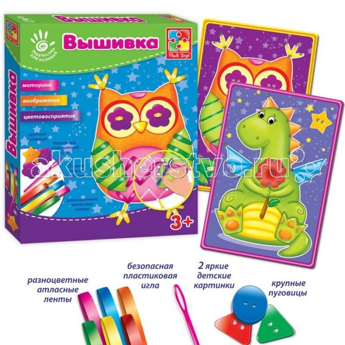 Наборы для творчества Vladi toys Набор для творчества Вышивка лентами