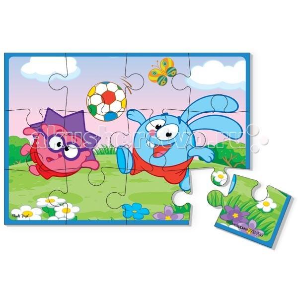 Пазлы Vladi toys Пазл мягкий Смешарики формат А5 vladi toys vladi toys пазл ферма