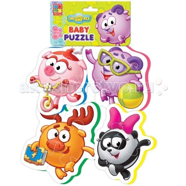 Пазлы Vladi toys Пазлы мягкие Смешарики vladi toys мягкие пазлы смешарики vladi toys