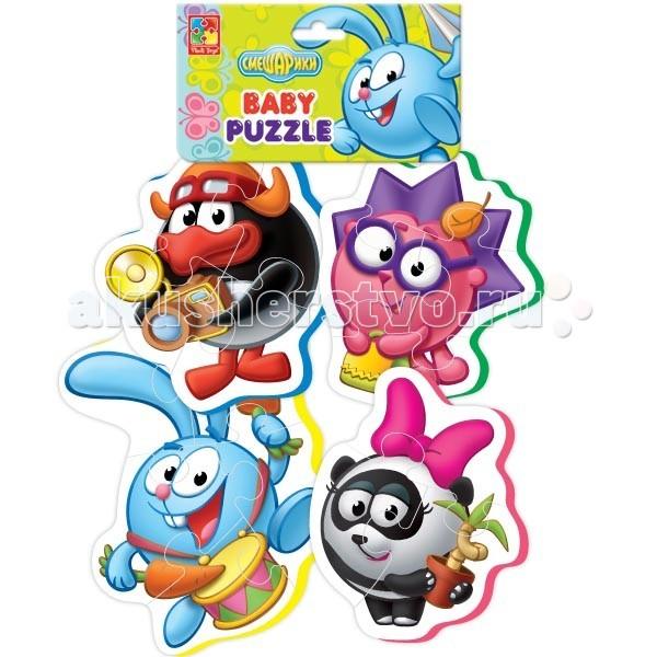 Пазлы Vladi toys Пазлы мягкие Смешарики пазлы vladi toys пазлы мягкие baby puzzle сказки репка
